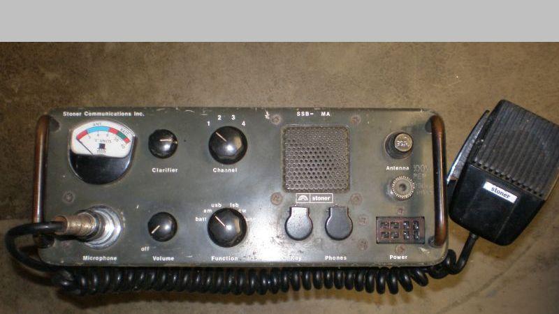SSB-20MA field radio made by Stoner's first company in Cucamonga, CA