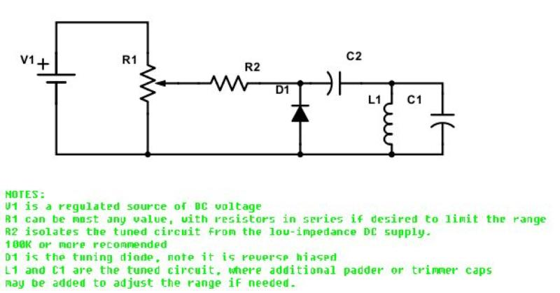 Typical simple diode tuning circuit