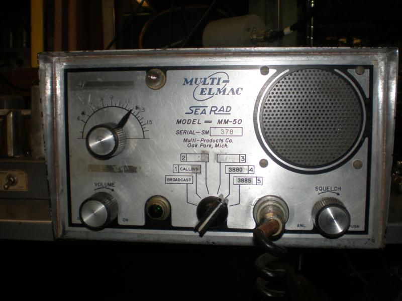 Multi Elmac MM-50 marine radio - ready to go on 3880 and 3885 khz AM