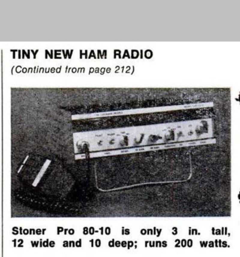 Rare public appearance -  Popular Mechanics Oct. '77 article on new ham gear