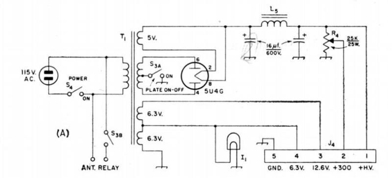 1961 Homebrew transmitter power supply