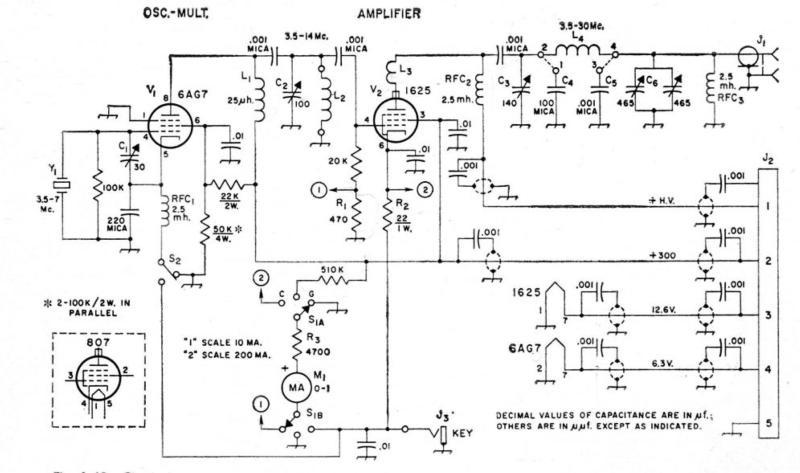 1961 Homewbrew transmitter schematic