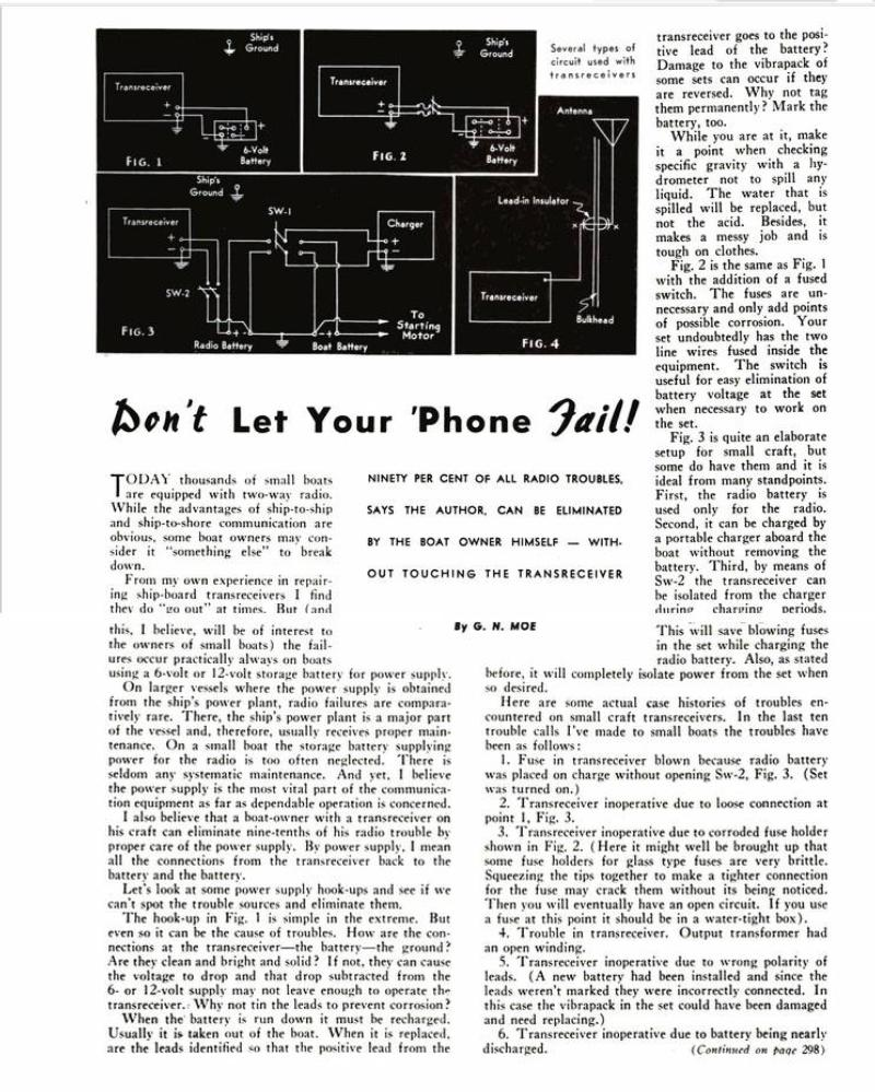 Radiotelephone maintenance page 1