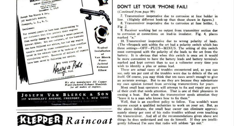 Radiotelephone maintenance page 2