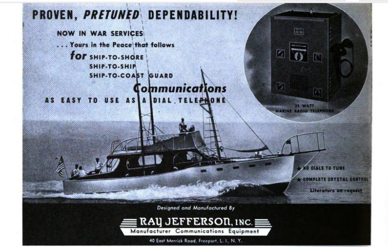Competitor:  Ray Jefferson ad 1945