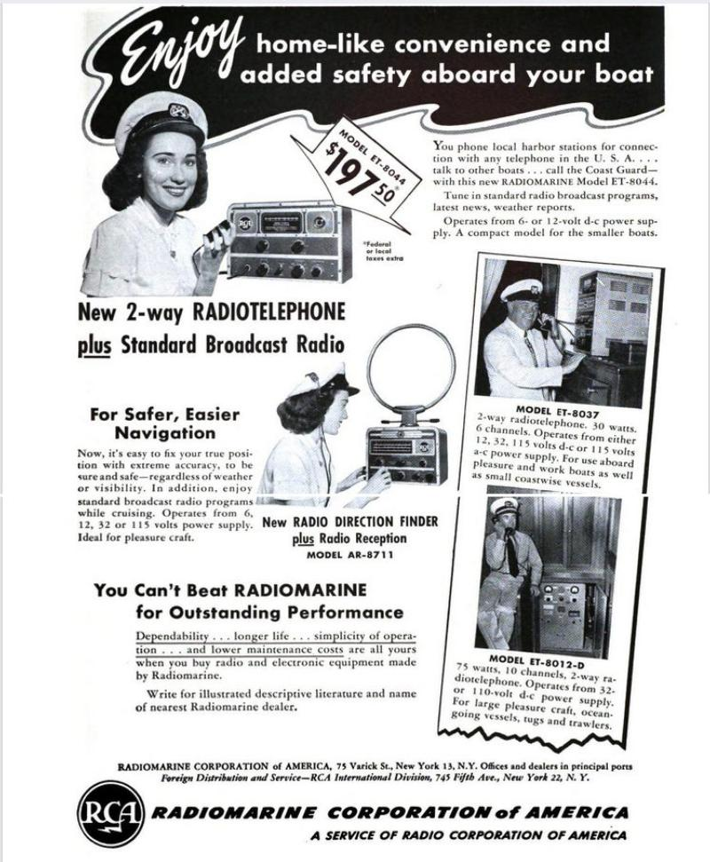 Competitor:  RCA ad from 1950