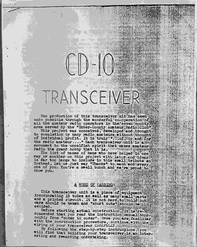 CD-10 documentation