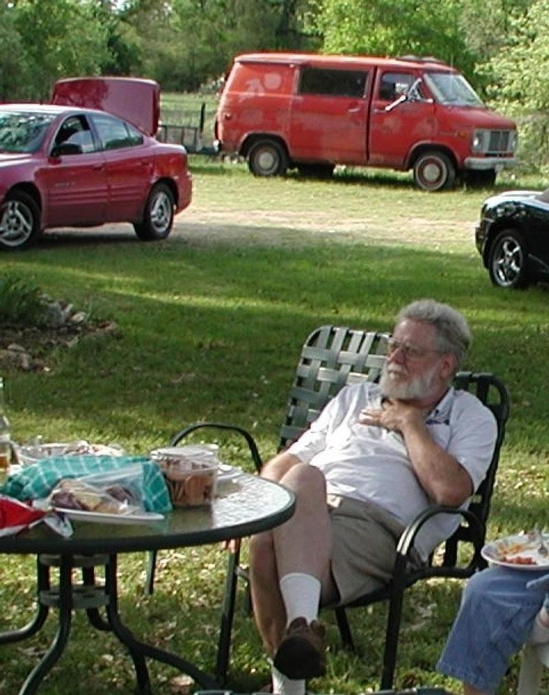 Michael Hopkins at a picnic (and doubtless under FMLA protection)