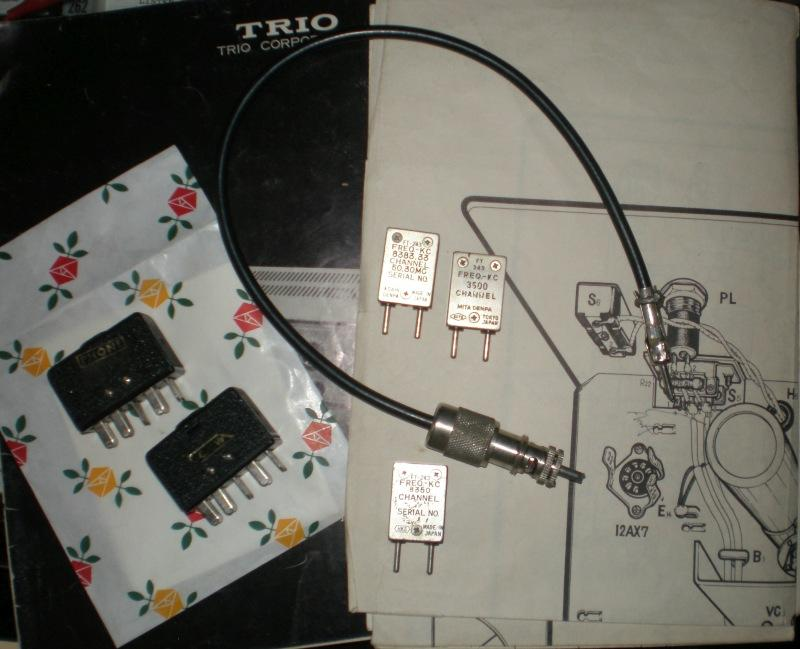 A VFO cable, mode-selection plugs, and 3 crystals were included