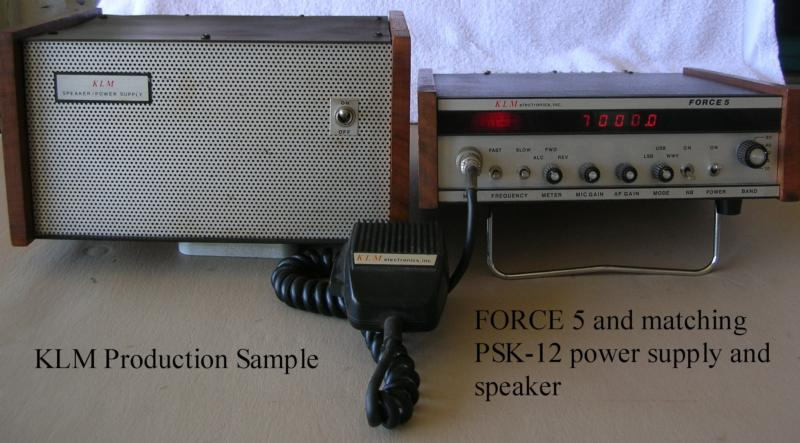 KLM Force 5 prototype and power supply