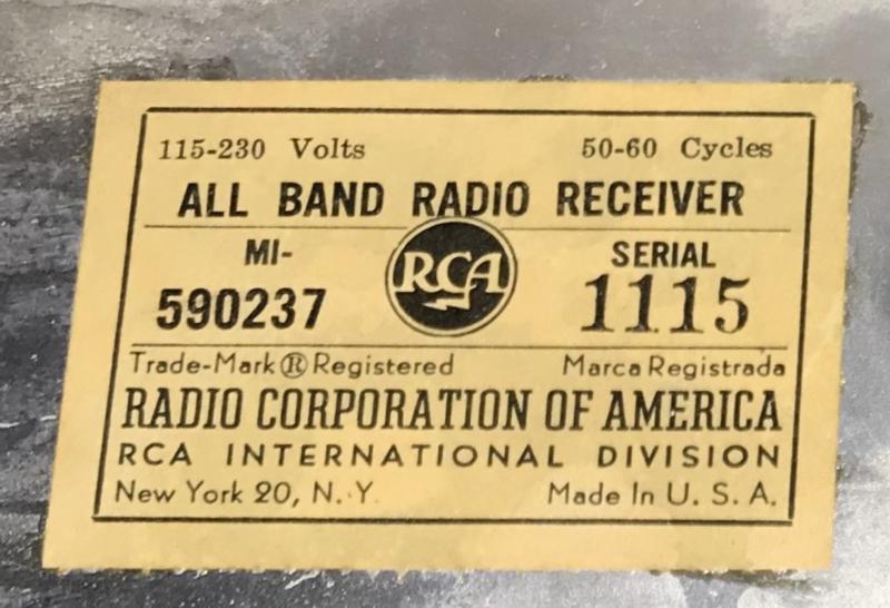 RCA nametag