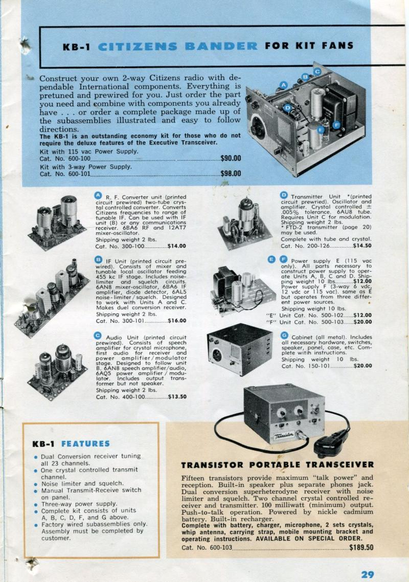 KB-1 catalog page (early '60s)