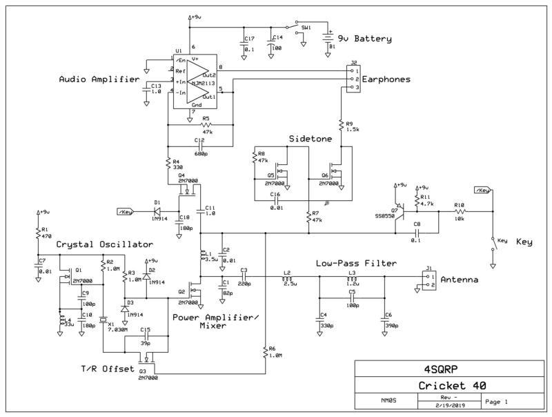Cricket 40 schematic from 4SQRP