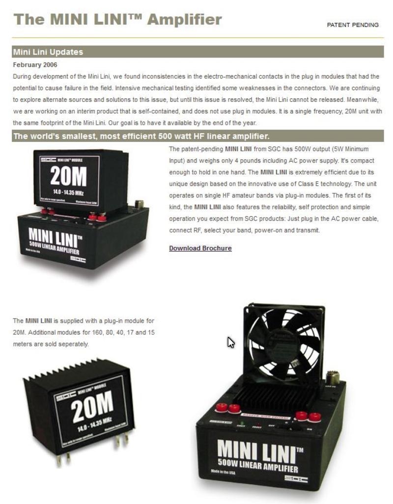 SGC Mini-Lini - Class E amplifier using EER