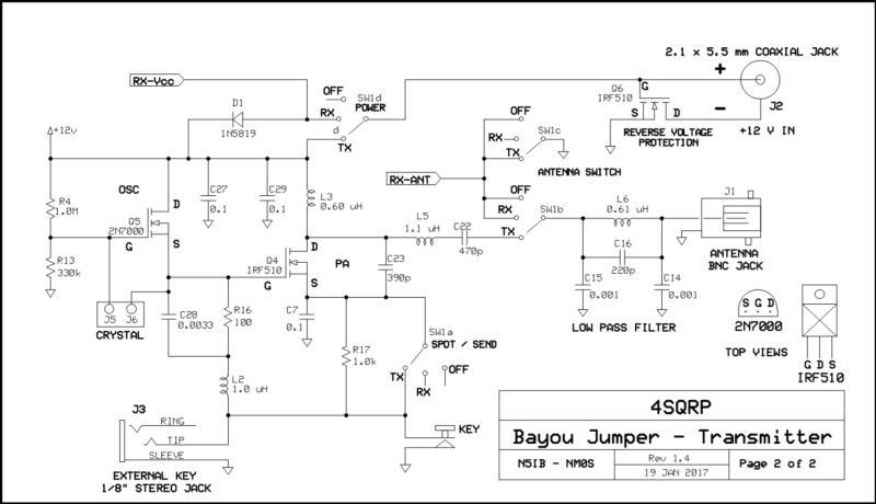 Bayou Jumper IRF-510 TX from 4SQRP