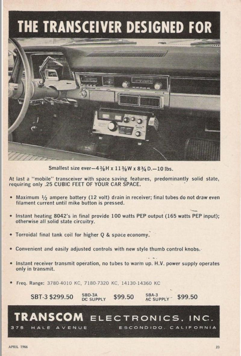 Transcom Ad from 1966
