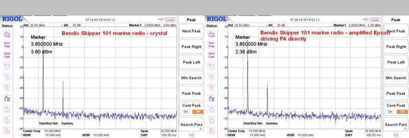 Bendix marine radio - amplified Epson vs. crystal