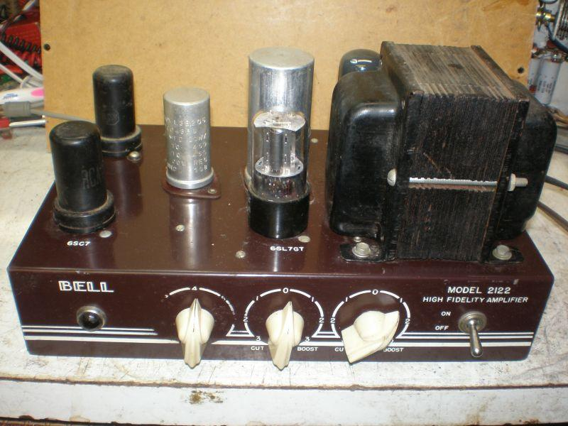 Bell 2122 amplifier with a pari of 6V6s