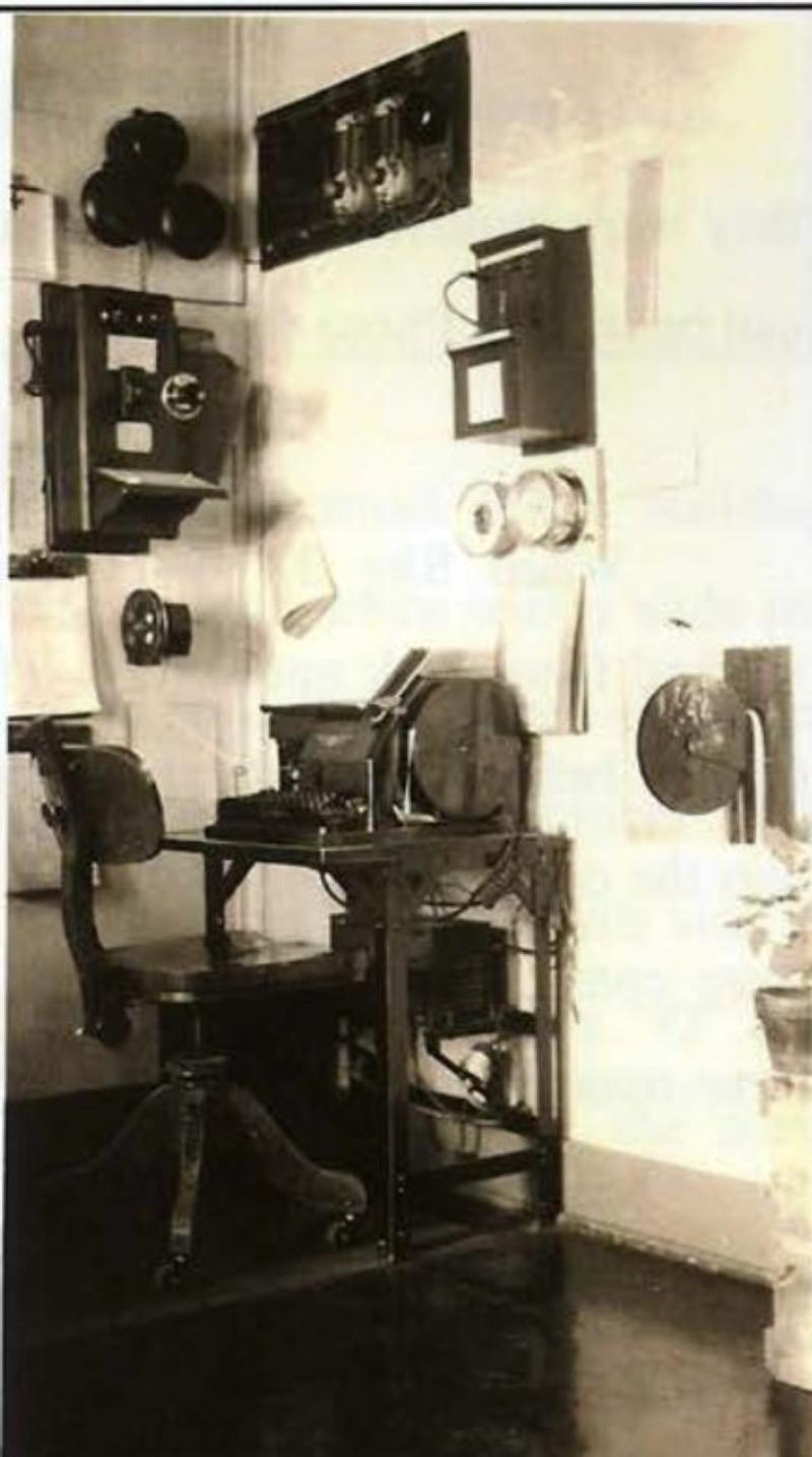 Medicine Bow teleype desk