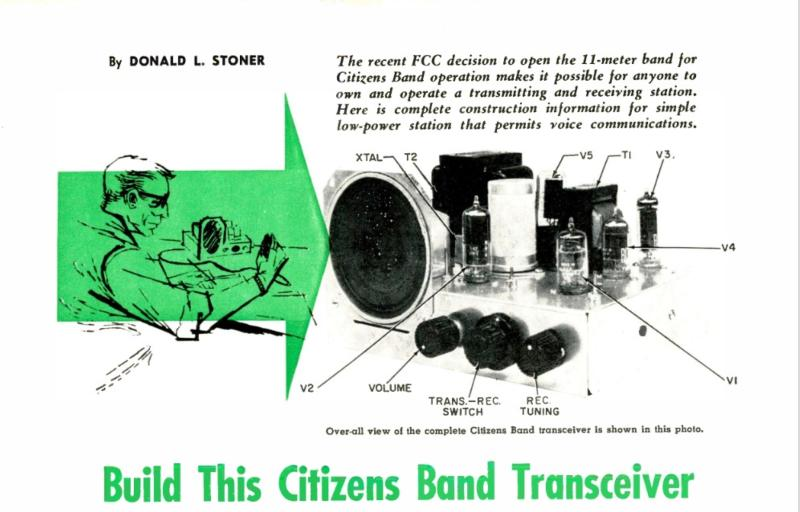 The first CB construction article and the basis of the Heathkit Lunchboxes