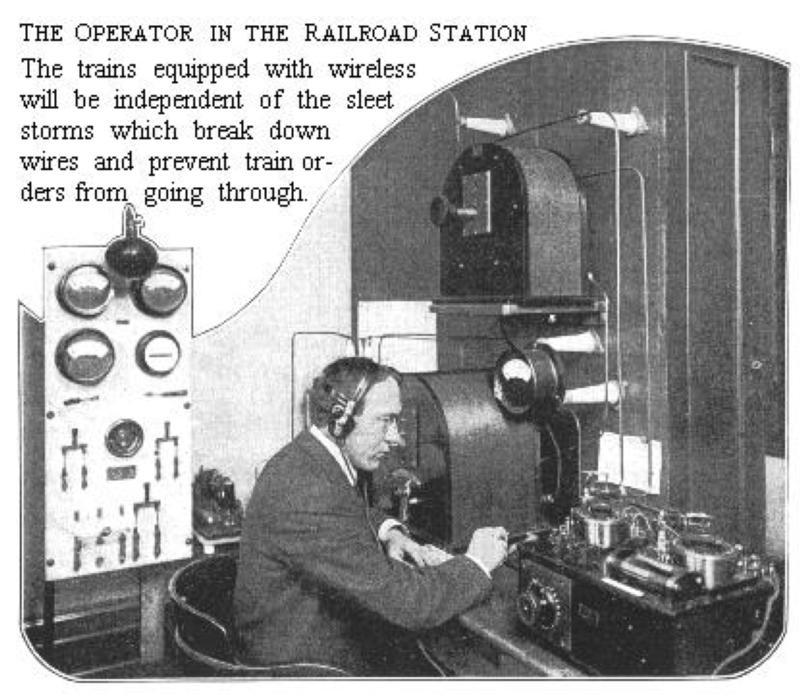Radio operator at his post
