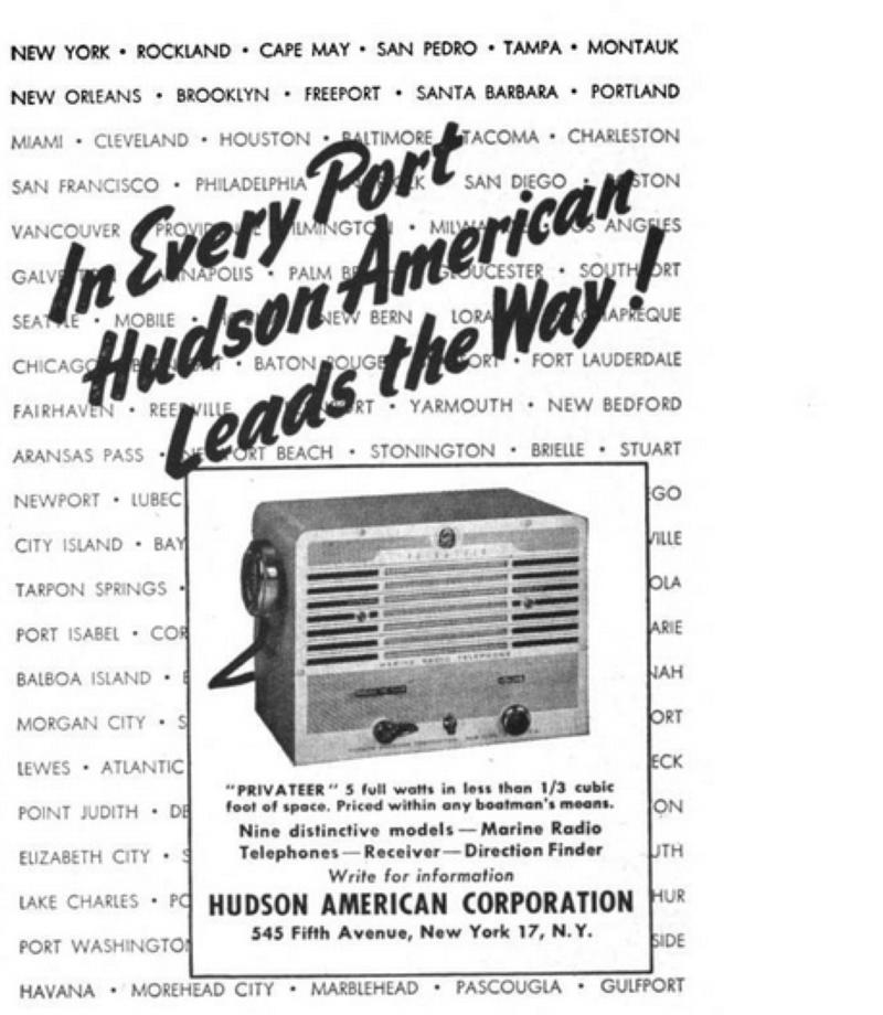 Privateer Ad from 1949