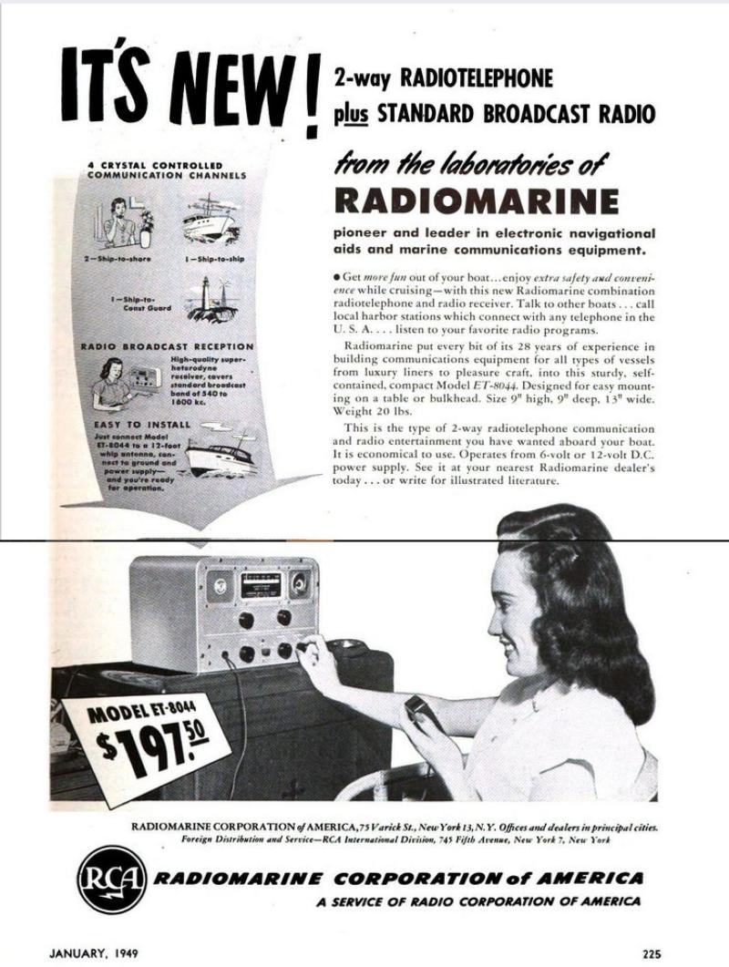 Competitor:  Radiomarine ad