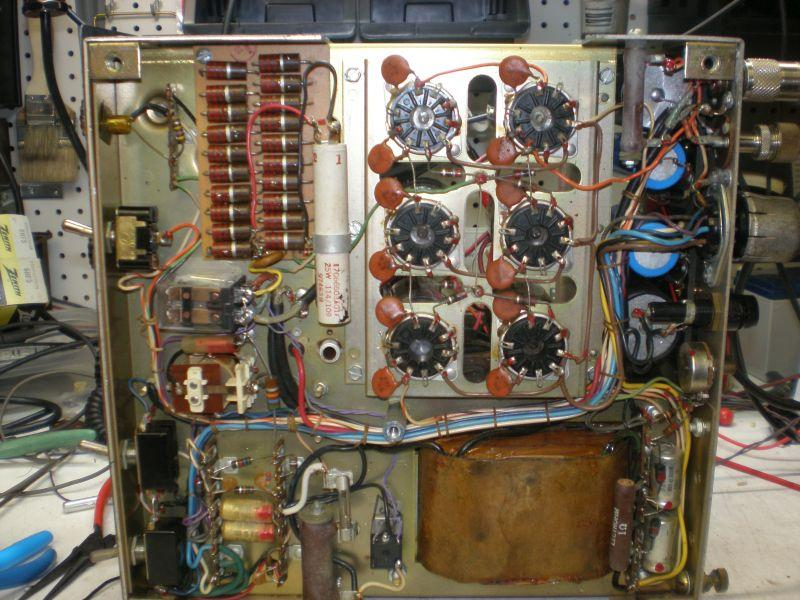 Under chassis view of linear amplifier