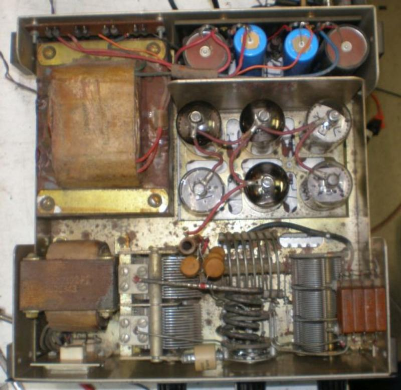 Top view of linear amplifier